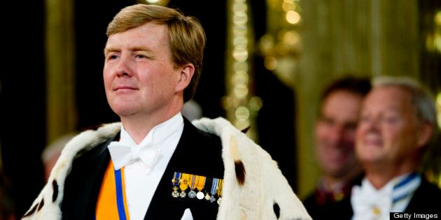 AMSTERDAM, NETHERLANDS - APRIL 30: HM King Willem Alexander of the Netherlands during the inauguration...