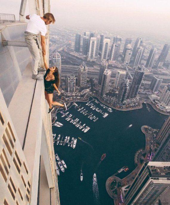 La mannequin russe qui s'est suspendue du haut de la Cayan Tower justifie son geste