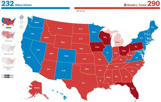 Hillary Clinton a encore une infime chance de remporter l'élection présidentielle 2016, un recomptage...