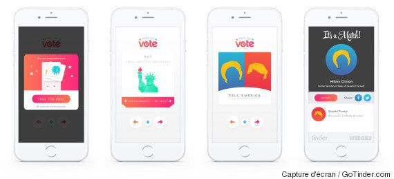 Tinder veut inciter les jeunes à voter à l'élection américaine grâce à sa nouvelle fonctionnalité «Swipe...