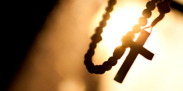 Religion, rosary, cross, motion, sun, prayer,