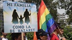 Grande manifestation contre la légalisation du mariage gai à