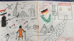 L'émouvant dessin d'un enfant syrien offert à la police