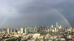Des arcs-en-ciel au-dessus de New York le 11 septembre 2015