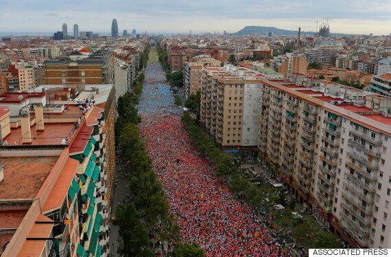 Manifestation indépendantiste à Barcelone: 1,4 million de participants pour la