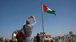 Le drapeau palestinien déployé à