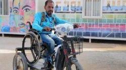 Ce réfugié syrien s'est fabriqué un véhicule avec des