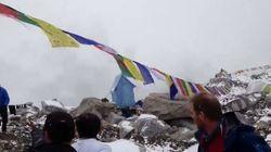 L'impressionnante vidéo d'une avalanche sur