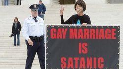 Manifestation contre le mariage gai à