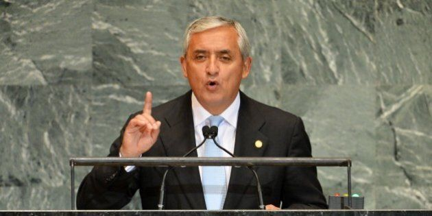 Otto Fernando Pérez Molina, President of Guatemala, speaks during the 67th session of the United Nations...