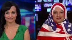 Un hijab aux couleurs du drapeau américain pour dénoncer l'islamophobie de Trump
