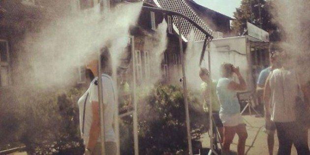 Auschwitz: des douches installées pour rafraîchir les visiteurs font