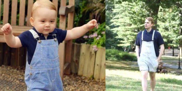 Âgé de 23 ans, il s'habille comme le Prince George durant une semaine