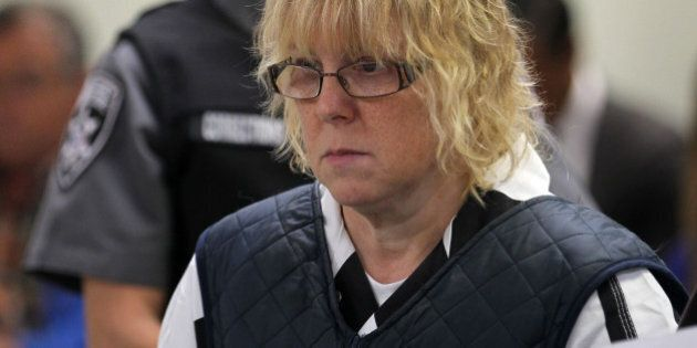 PLATTSBURGH, NY - JUNE 15:  Joyce Mitchell (L) appears before Judge Buck Rogers in Plattsburgh City Court on June 15, 2015 in Plattsburgh, New York. Mitchell allegedly  aided inmates Richard Matt and David Sweat in their escape from Clinton Correctional Facility. They were discovered missing the morning of June 6.  (Photo by G.N. Miller - Pool/Getty Images)