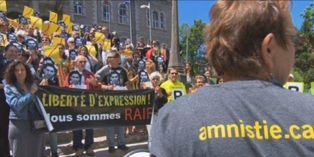 Des écoliers sherbrookois demandent la libération de Raif Badawi à Stephen