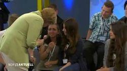 Merkel défend son attitude face à la jeune réfugiée palestinienne en larmes