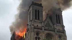 Violent incendie d'une basilique à