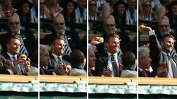 David Beckham attrape une balle en plein vol et tout Wimbledon