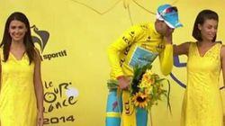 Tour de France: pas de bise pour le maillot jaune Vincenzo Nibali