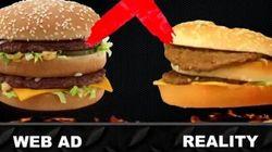 Il exige des hamburgers qui ressemblent vraiment à ceux des pubs