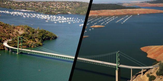 Avant / après : Les effets de la sécheresse en
