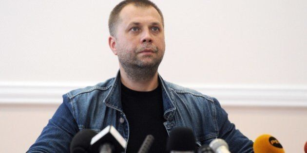 Self-proclaimed Prime Minister of the pro-Russian separatist 'Donetsk People's Republic' Alexander Borodai...