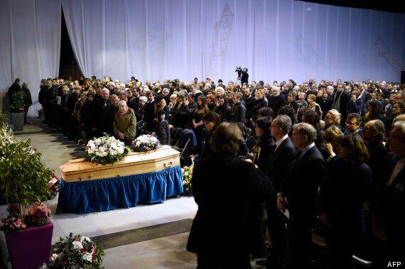 Charlie Hebdo: les funérailles de Charb, Honoré et Mustapha Ourrad