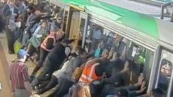 Une belle solidarité dans le métro en Australie pour aider un homme à la jambe