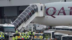 Un avion de ligne de Qatar Airways escorté jusqu'à Manchester