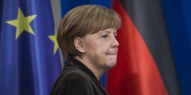 German Chancellor Angela Merkel arrives to receive the 'Joseph Prize' for Human Rights by Abraham Foxman,...