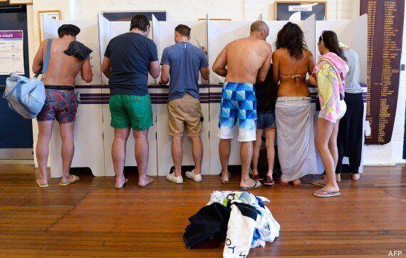 Voter en maillot de bain, en Australie, c'est