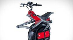 Cette moto n'a qu'une roue