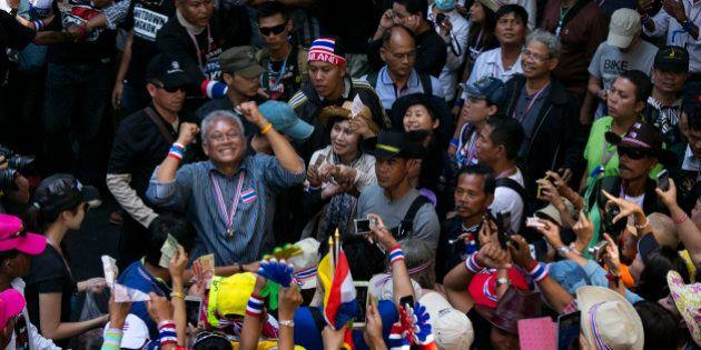 BANGKOK, THAILAND - JANUARY 13: People's Democratic Reform Committee (PDRC) leader Suthep Thaugsuban...