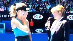 Eugenie Bouchard répond à une question embarrassante après son match