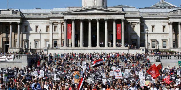 Paris, Londres, New York... Ces citoyens qui manifestent contre une intervention en Syrie