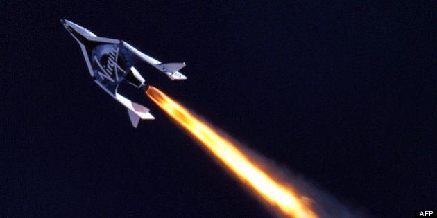 Le vaisseau SpaceShipTwo de Virgin Galactic a effectué son premier test moteur en vol