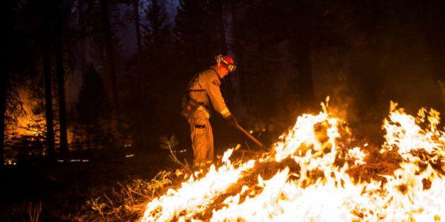 Le parc Yosemite en feu: l'impressionnant incendie en cinq