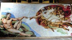La Chapelle Sixtine reproduite... en guimauves!