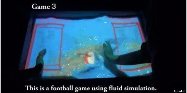 Quand l'eau devient un écran tactile