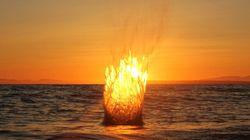Boule de feu ou coucher de soleil?