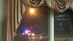 La poursuite policière qu'il filme à la télé passe devant chez lui