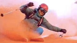 Ils ont inventé le ski sur de la neige