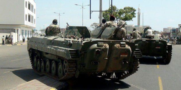 ADEN, YEMEN - MARCH 19: Yemeni forces loyal to embattled President Abd Rabbuh Mansour Hadi regain control...