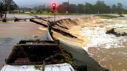 Impressionnantes images des inondations en