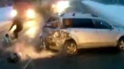 Une fillette sort miraculeusement indemne d'un accident