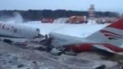 Un avion sort de la piste à Moscou: 4