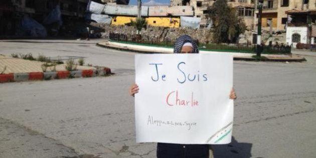 «Je suis Charlie» à Alep par Zaina Erhaim: la courageuse photo de la journaliste