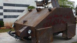 Le tank 100% artisanal des rebelles