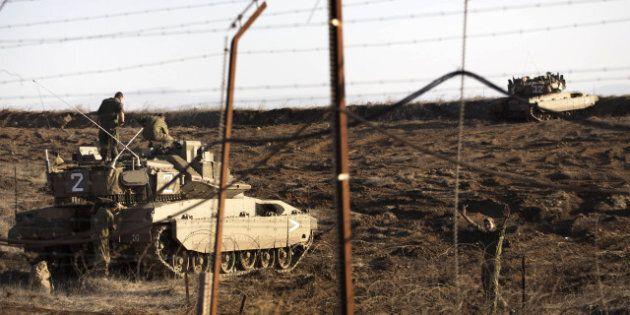 L'armée israélienne riposte à la chute d'un obus, et touche une cible syrienne sur le plateau du