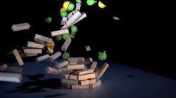 Une partie de Angry Birds «en vrai»